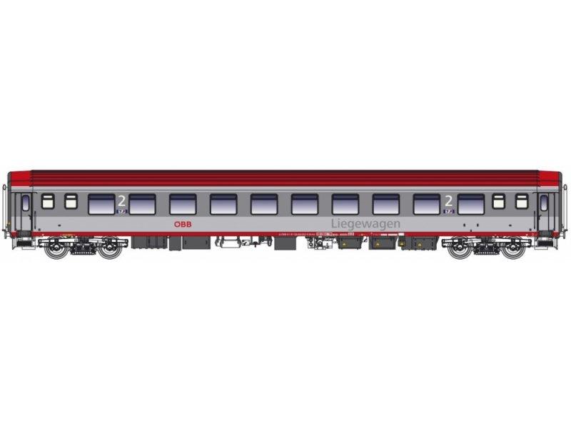 Spur H0 2tlg Liegewagen Set Bcmz 59 90 öbb Ep Vi Ls Models Ls47061